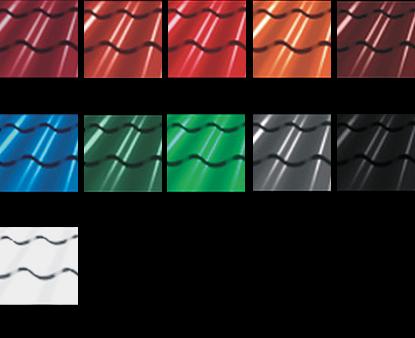 Dostępne kolory blachodachówki